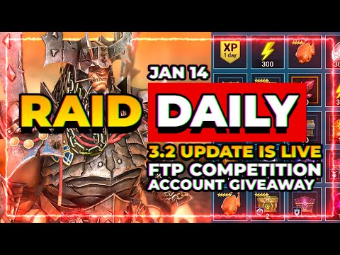 RAID Daily | Account Giveaway! | 3.20 LIVE! | f2p Tourney! | Brago Fragment!
