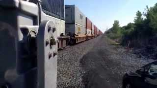 Really FAST csx intermodal and Amtrak 48 (running 1hr 15min late) at Pleasant Avenue Hamburg NY