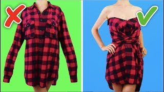 33 COOL AND SIMPLE CLOTHING LIFE HACKS AND CRAFTS