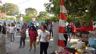 Ibu2 jemaat SYALOOM Balikpapn senam jumba  tahun 16 november 2017