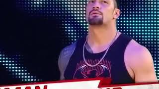 Roman Reigns Entrance! Monday night Raw!