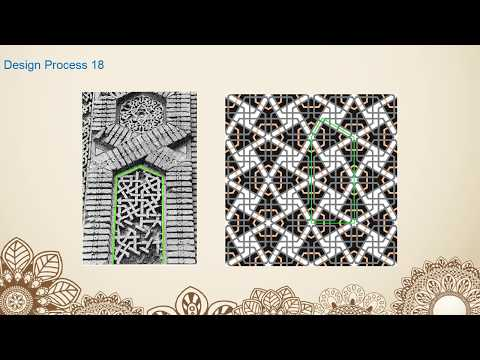 伊斯蘭幾何藝術 (Zuzan madrasa 圖樣)