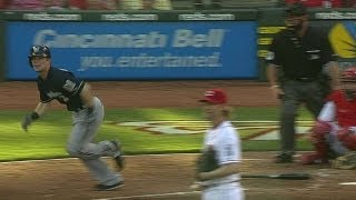 MIL@CIN: Gennett drills his first career home run