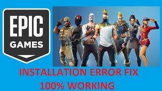Epic Games Launcher Installation Error | 100% Working Fix | Fortnite