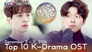 Top 10 K-Drama OST (December 5 - 11, 2016)