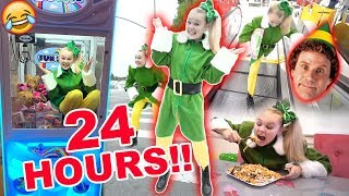 24 HOURS AS BUDDY THE ELF!! ((CHALLENGE!))