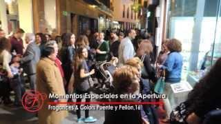 Momentos especiales en la apertura de Frangances and Colors Puente y Pellón 16 de Sevilla