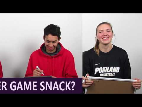 Student-athletes at the University of Portland quiz each other on what their fellow athletes really love.