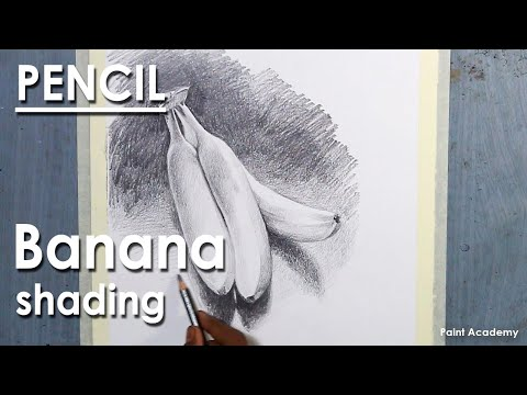 Pencil shading technique : How to Draw Bananas