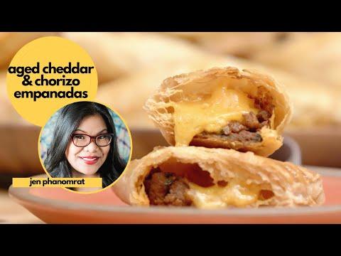 Easy 5-Ingredient Aged Cheddar & Chorizo Empanadas