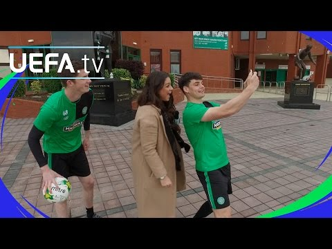 Celtic step up for the skills test - UEFA Youth League skills challenge