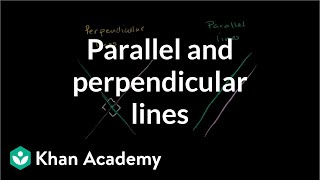 Parallel and perpendicular lines intro | Analytic geometry | Geometry | Khan Academy