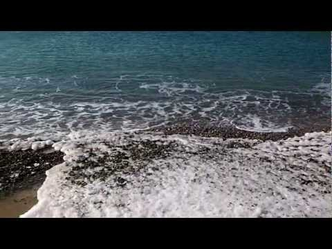 Black sea after frozen days