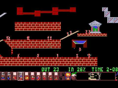 Xmas Lemmings 1991 (DMA Design) (MS-DOS) [1991]