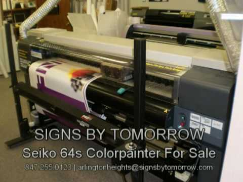 Seiko 64s ColorPainter  - Signs By Tomorrow Arlington Heights