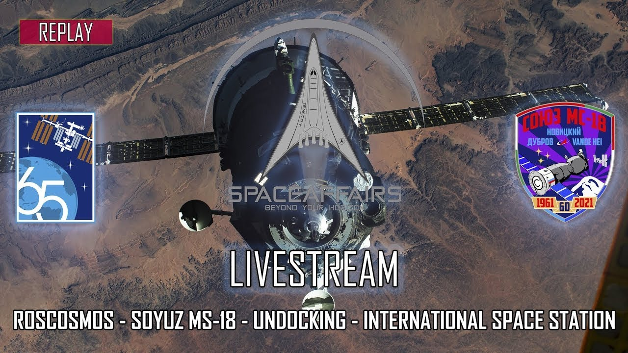 Soyuz MS 18 Farewells and Hatch Closing on the International Space Station