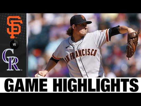 Giants vs. Rockies Game Highlights (9/6/21) | MLB Highlights
