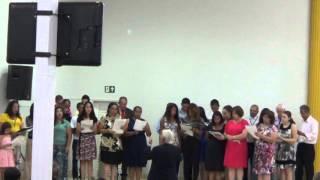 """Musica"""" Brilho celeste"""" coral da Igreja Assembleia de Deus em Santa Rita do Sapucaí 25/10/2015"""