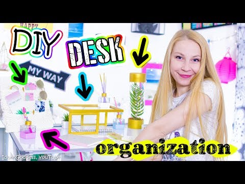 DIY Desk Decor And Organization – Gold And White Contemporary Minimalist Style