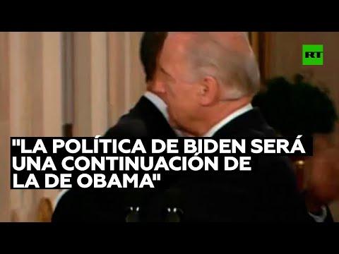 Experto: «La política exterior de Biden será una continuación de la política de Obama»