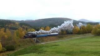 Zkušební jízda parní lokomotivy 475.179