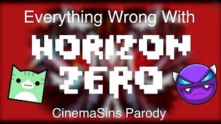 EVERYTHING WRONG WITH HORIZON ZERO (CinemaSins Parody) | Geometry Dash Juniper