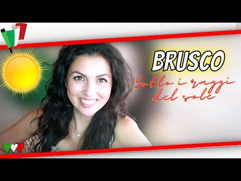 ✔ ITALIANO con Música   BRUSCO- Sotto i raggi del sole