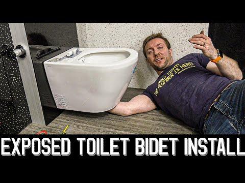 💧EXPOSED BIDET TOILET INSTALL - Vitra Vitrus Install