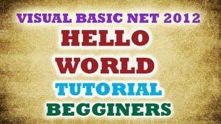 Hello world Visual Studio 2012 - VB NET