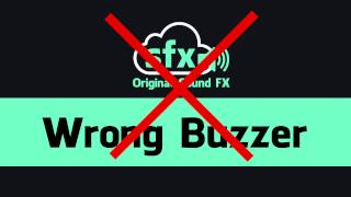 Wrong Buzzer Sound Effect
