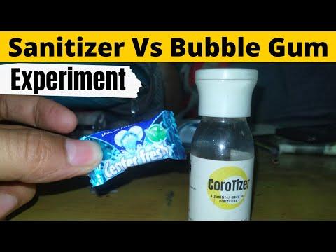 Center fresh Vs Sanitizer | center fresh experiments | Sanitizer experiments | Bubble Gum experiment