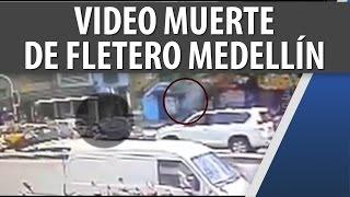 Video Registró Muerte de Fletero en la Cll 33 en Medellín / Nov 14 2014 / Cosmovisión Noticias