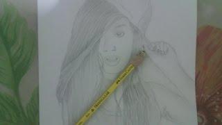 Garota tumblr:Desenho a lápis!!! Drawing