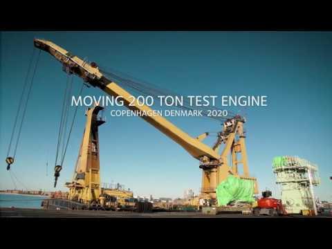 200 tons tung forsøgsmotor til grøn omstilling på plads i København