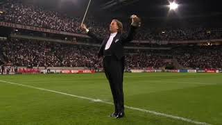 André Rieu playing before the Ajax - Olympic Marseille game