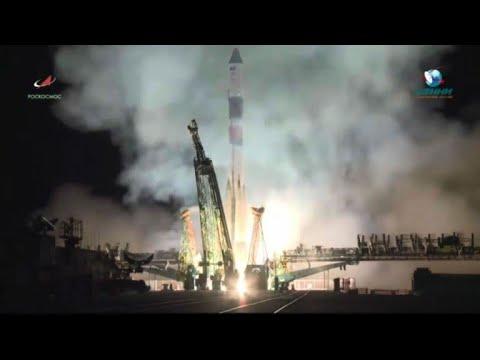 """إقلاع صاروخ """"سويوز"""" إلى محطة الفضاء الدولية"""