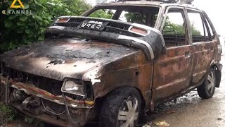 Taxi torched in Valley