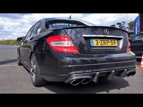MENTAL Mercedes-Benz C63 AMG with iPE EXHAUST!