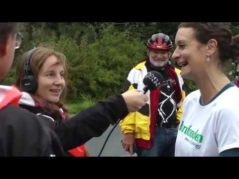Anna Svärd cyklar för Världens Barn
