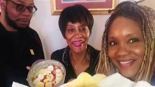 Smelt Fish & Potato Salad Mukbang with Mama & Jamil