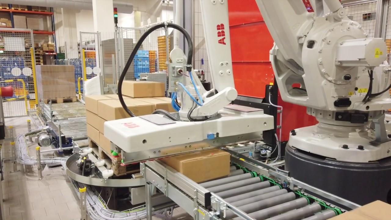 Palettier-Roboter bei Edeka