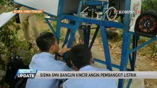 Siswa SMK Bangun Kincir Angin Pembangkit Listrik