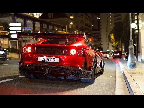 First Mansory Stallone Ferrari 812 Superfast Driving In Monaco