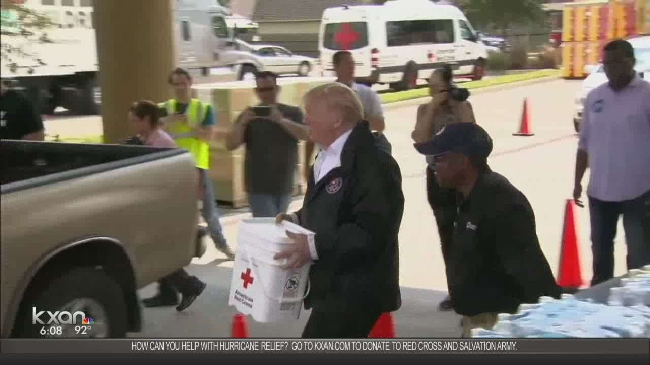 Evacuees on President Trump's Houston visit