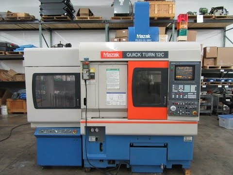 Mazak QuickTurn 12C CNC w Flex-GL-50C Gantry Loader and For Sale At www.machinesused.com