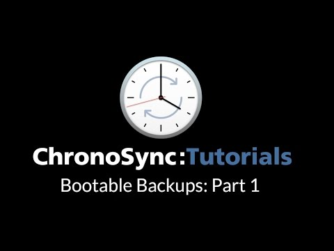Bootable Backup Part 1