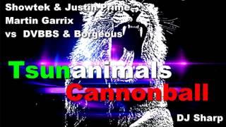 Showtek & Justin Prime Vs Martin Garrix Vs DVBBS & Borgeous   Tsunanimals Cannonball DJ Sharp