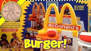 Make Mini Hamburgers!  McDonald's Happy Meal Magic Hamburger Snack Maker Set, 1993 Mattel Toys width=