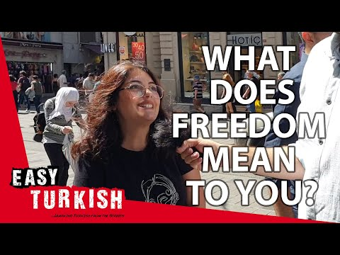 What does freedom mean to you? | Easy Turkish 12 photo