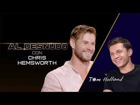 CHRIS HEMSWORTH y TOM HOLLAND ? Una divertida entrevista entre Superhéroes.